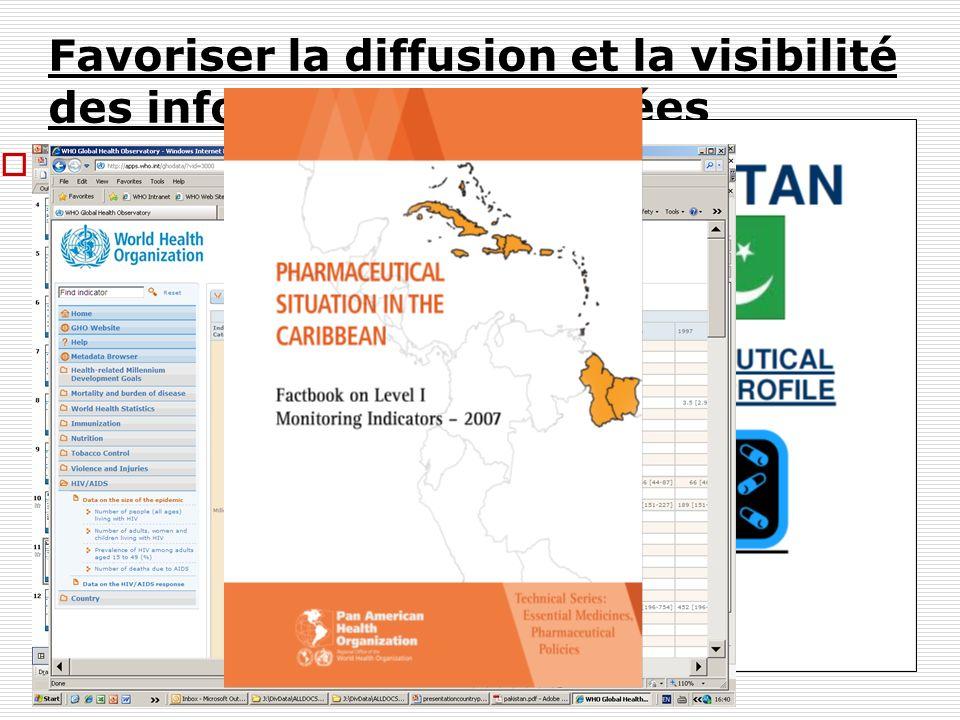 Favoriser la diffusion et la visibilité des informations collectées