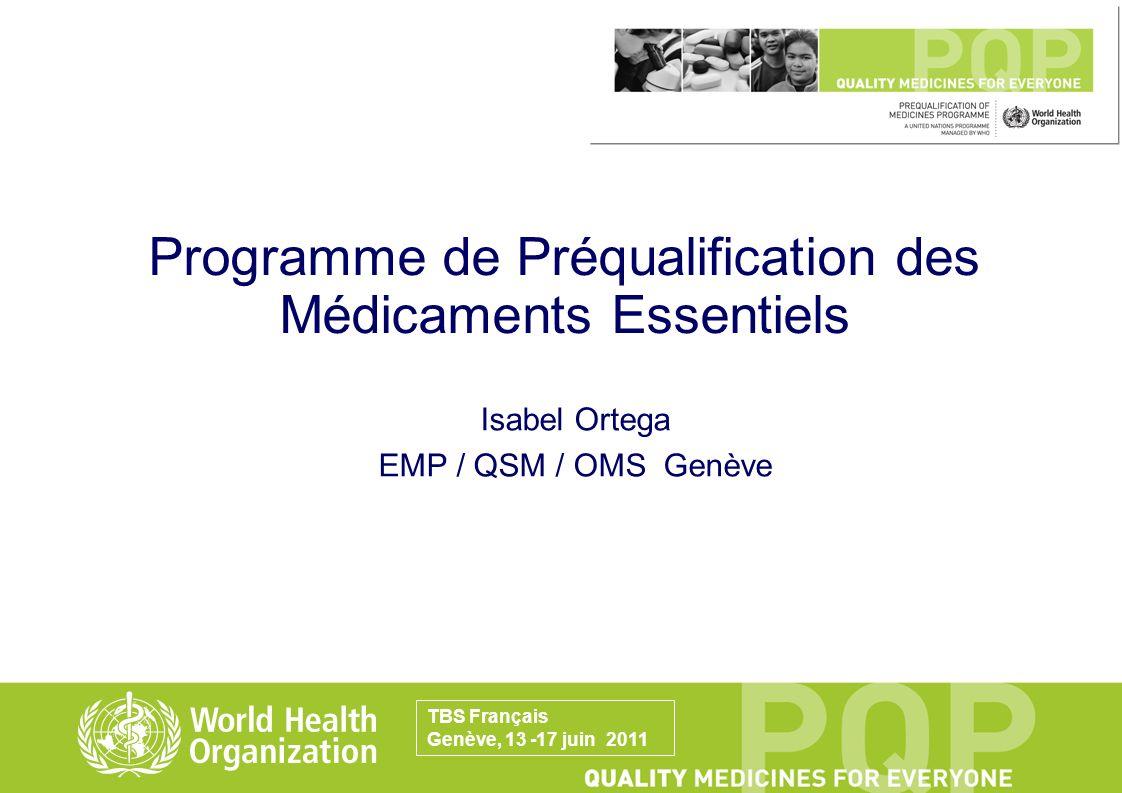 Programme de Préqualification des Médicaments Essentiels
