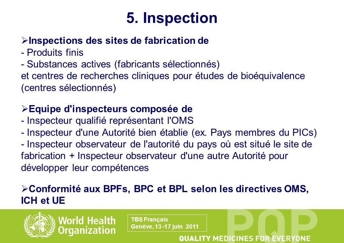 5. Inspection
