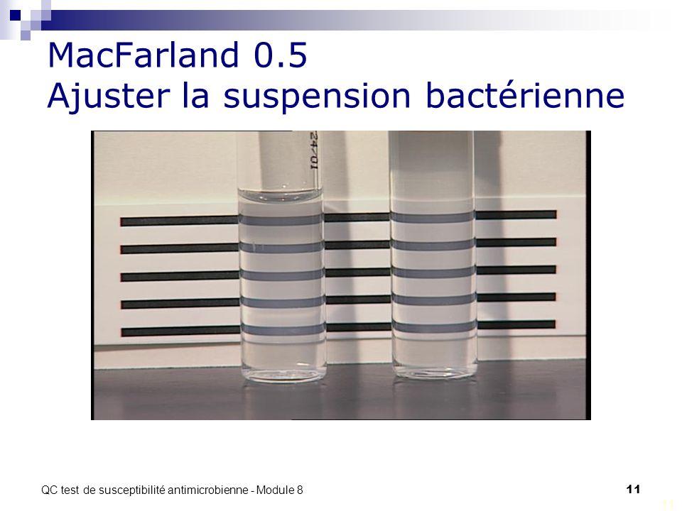 MacFarland 0.5 Ajuster la suspension bactérienne