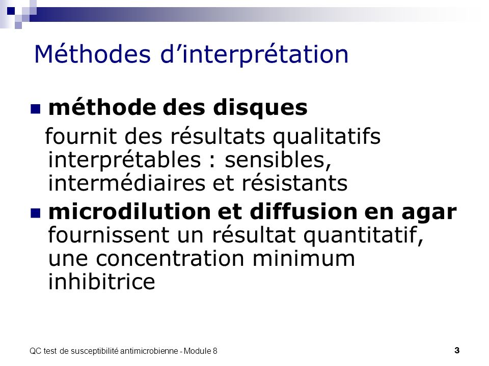 Méthodes d'interprétation