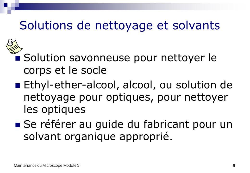 Solutions de nettoyage et solvants