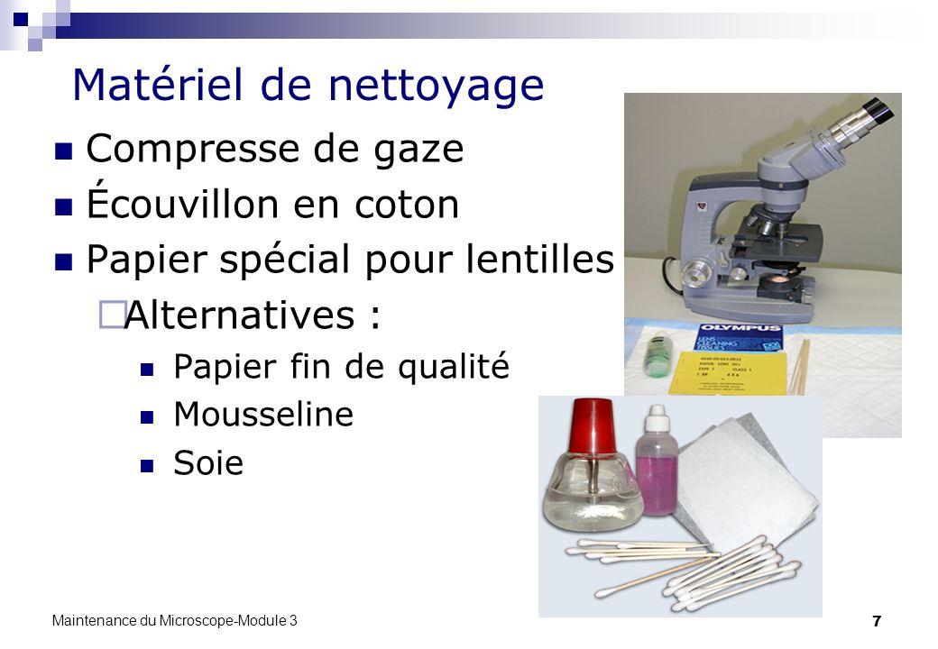 Matériel de nettoyage Compresse de gaze Écouvillon en coton