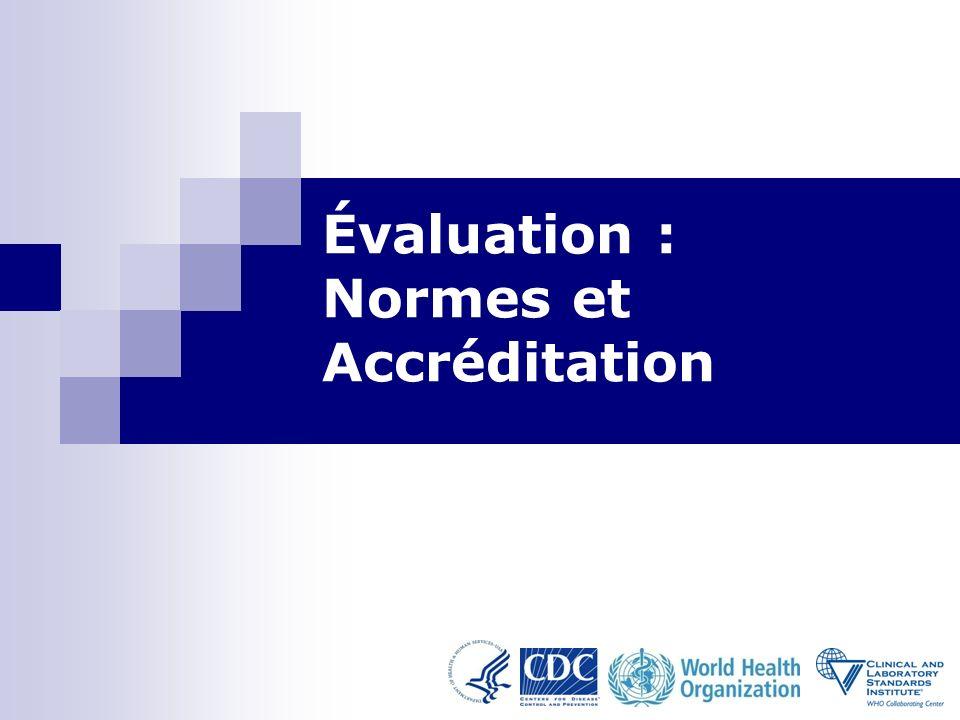 Évaluation : Normes et Accréditation