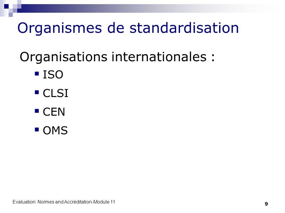 Organismes de standardisation