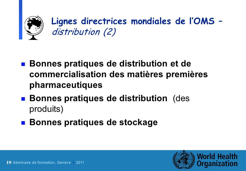 Lignes directrices mondiales de l'OMS – distribution (2)