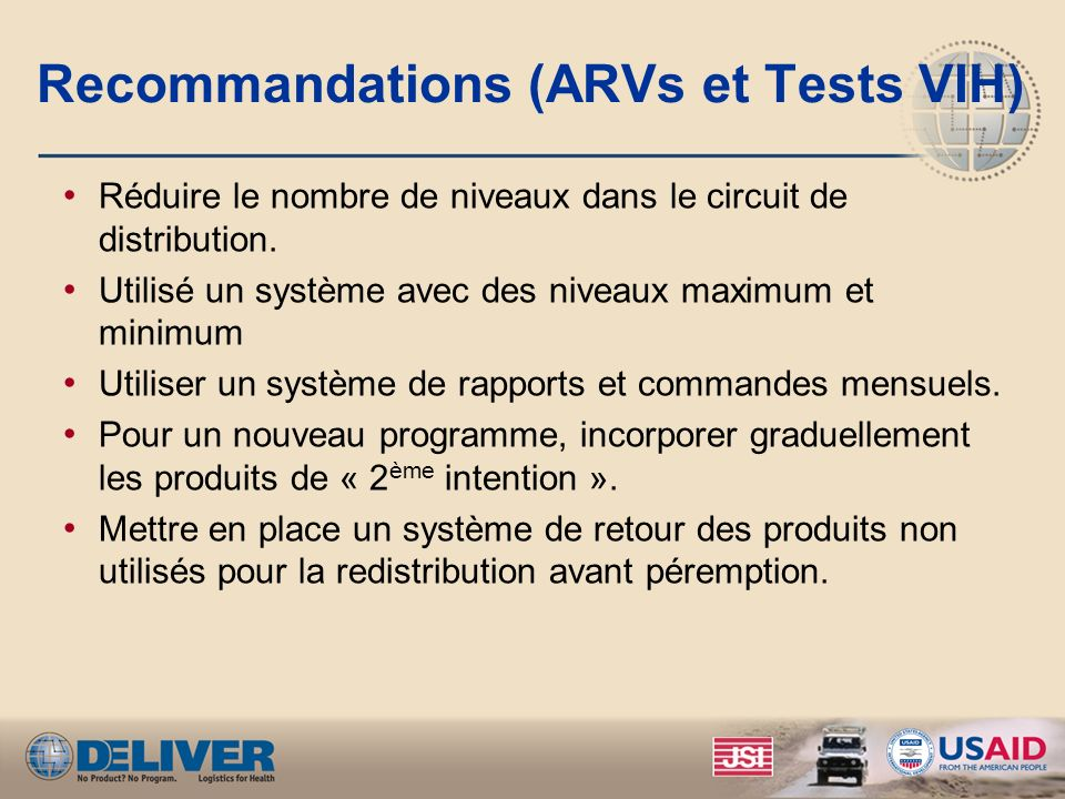 Recommandations (ARVs et Tests VIH)