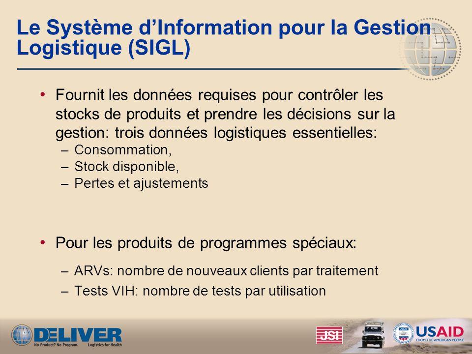 Le Système d'Information pour la Gestion Logistique (SIGL)