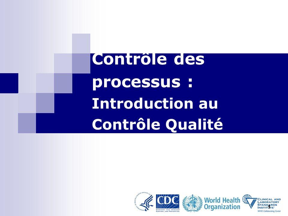Contrôle des processus : Introduction au Contrôle Qualité