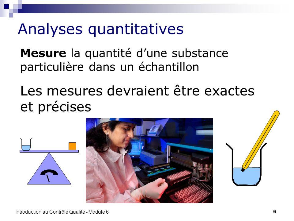 Analyses quantitatives