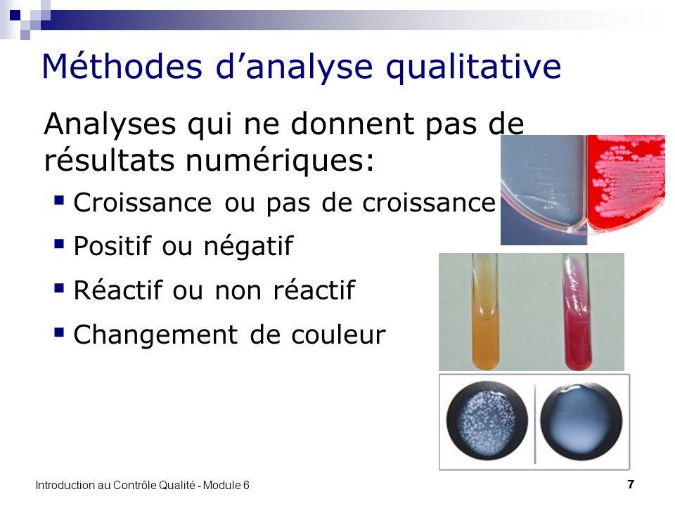 Méthodes d'analyse qualitative