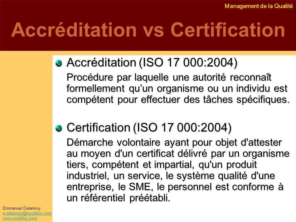 Accréditation vs Certification