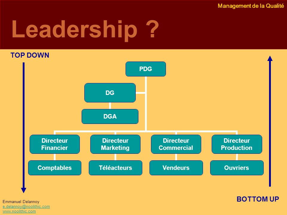 Leadership TOP DOWN BOTTOM UP