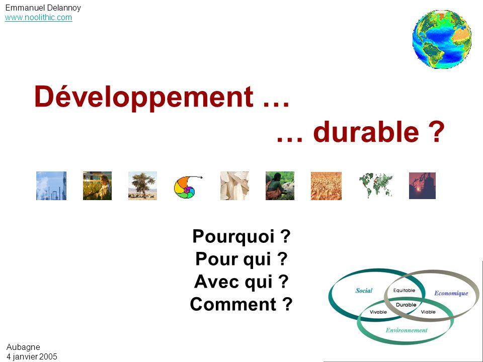 Développement … … durable