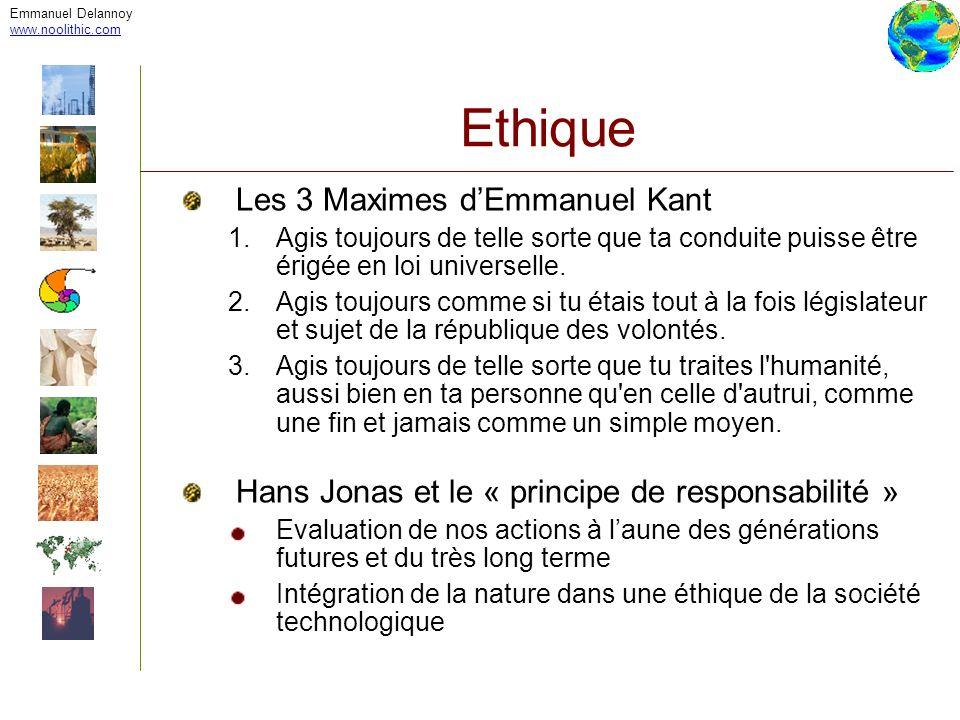 Ethique Les 3 Maximes d'Emmanuel Kant