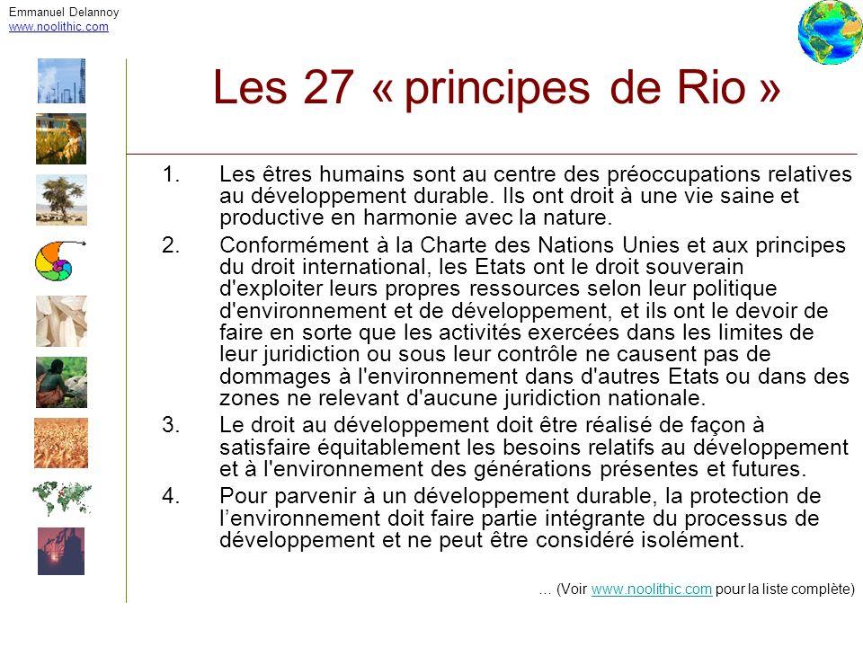 Emmanuel Delannoy www.noolithic.com. Les 27 « principes de Rio »
