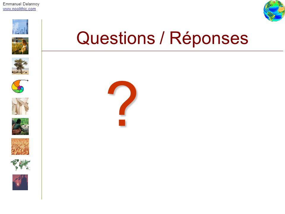 Emmanuel Delannoy www.noolithic.com Questions / Réponses