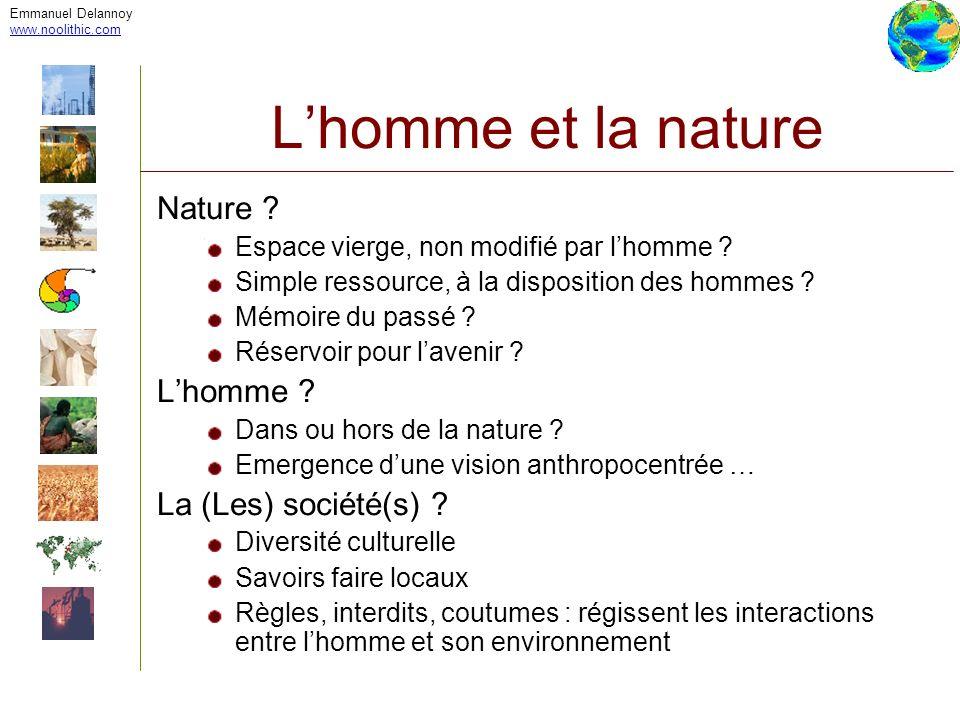 L'homme et la nature Nature L'homme La (Les) société(s)