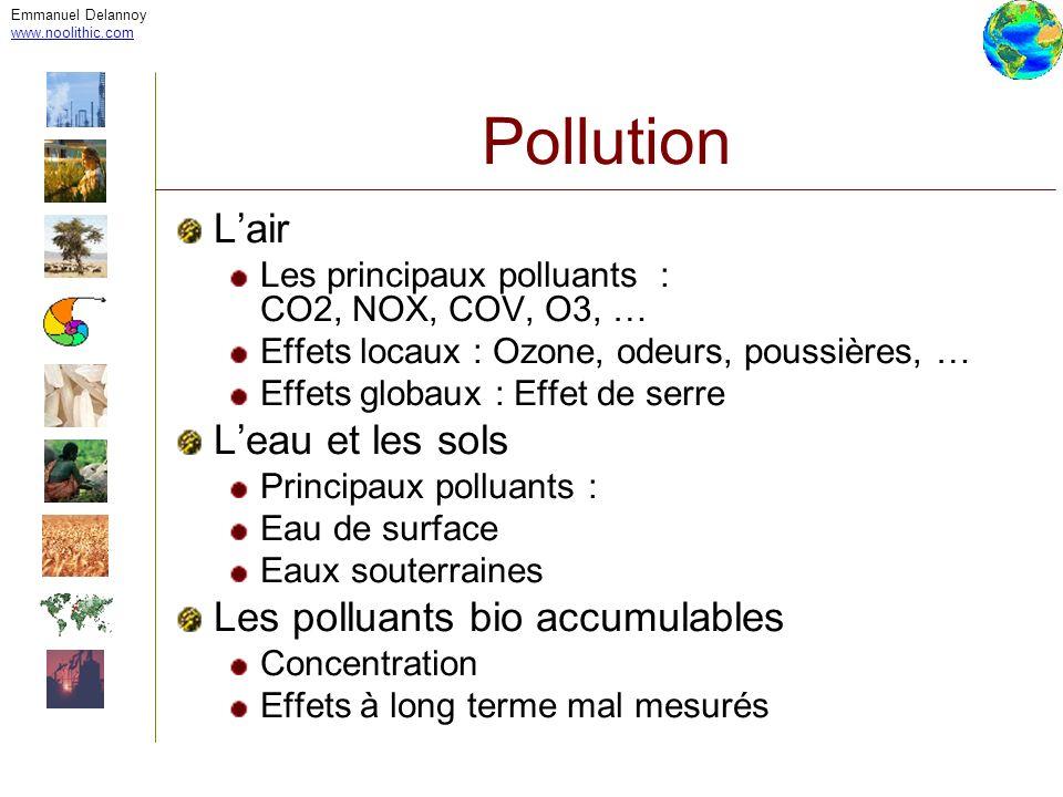 Pollution L'air L'eau et les sols Les polluants bio accumulables