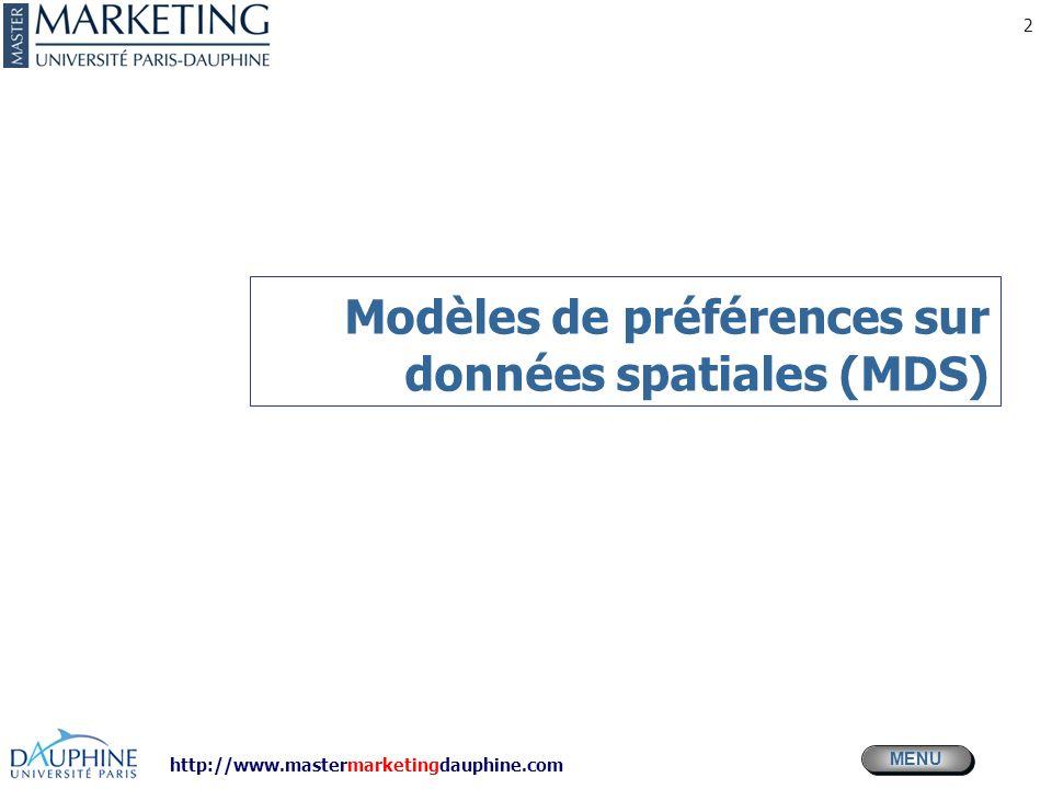Modèles de préférences sur données spatiales (MDS)