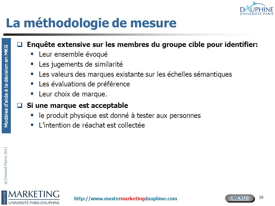 La méthodologie de mesure