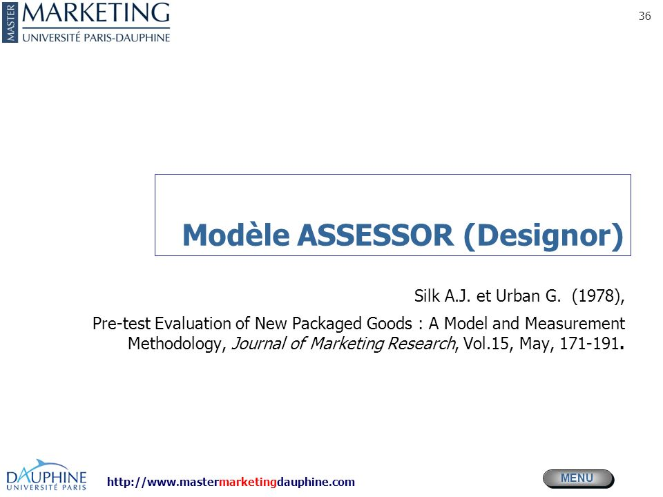 Modèle ASSESSOR (Designor)