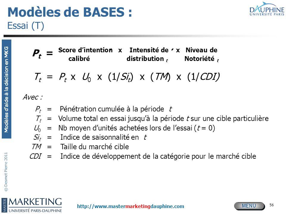Modèles de BASES : Essai (T)