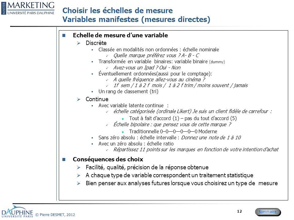 Protocole de collecte Plans expérimentaux