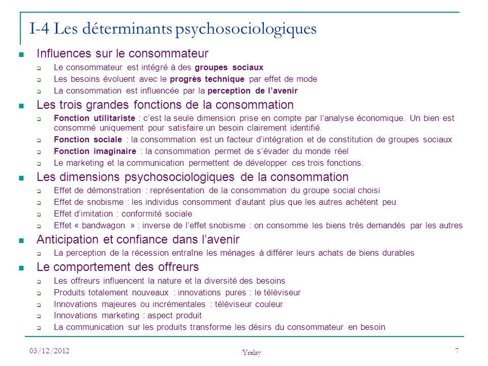 I-4 Les déterminants psychosociologiques