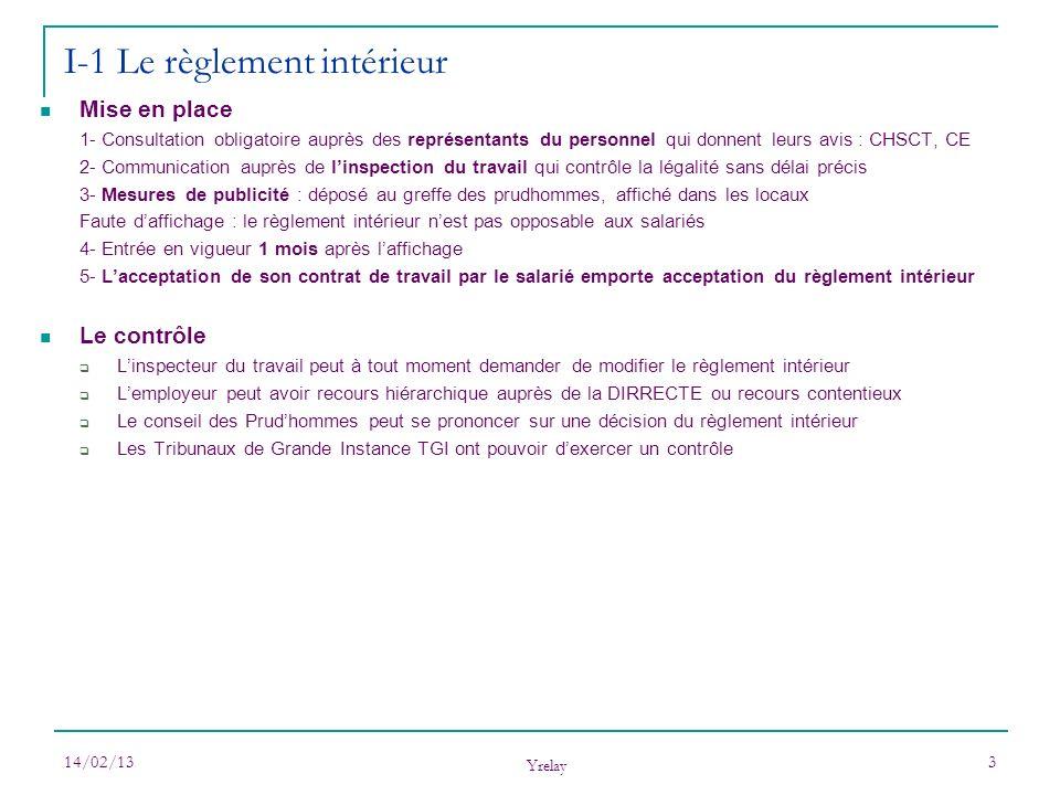 I-1 Le règlement intérieur