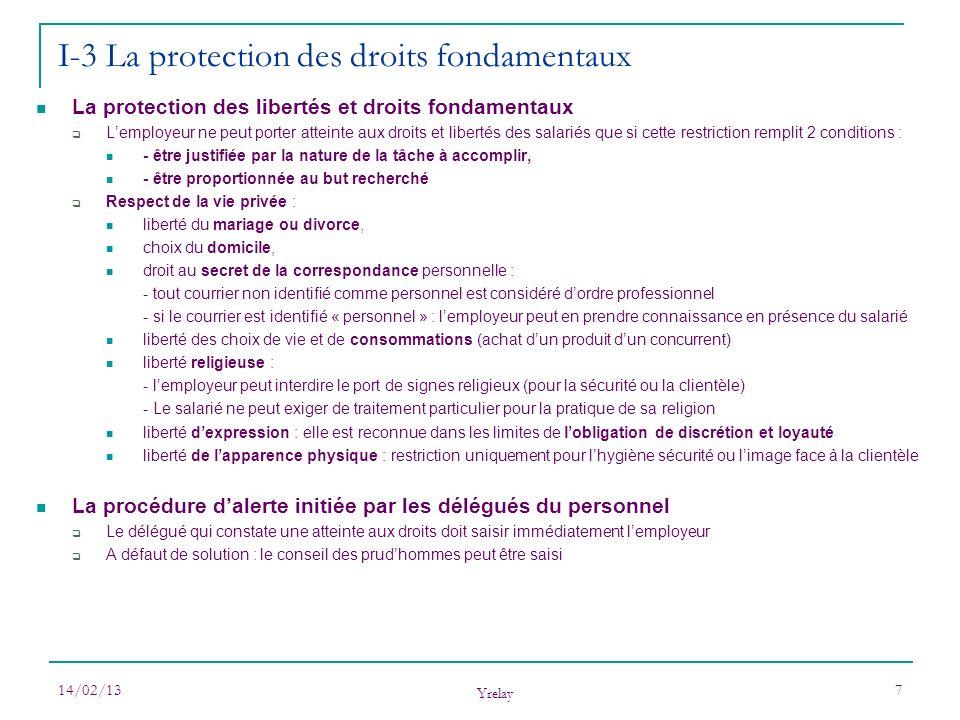 I-3 La protection des droits fondamentaux