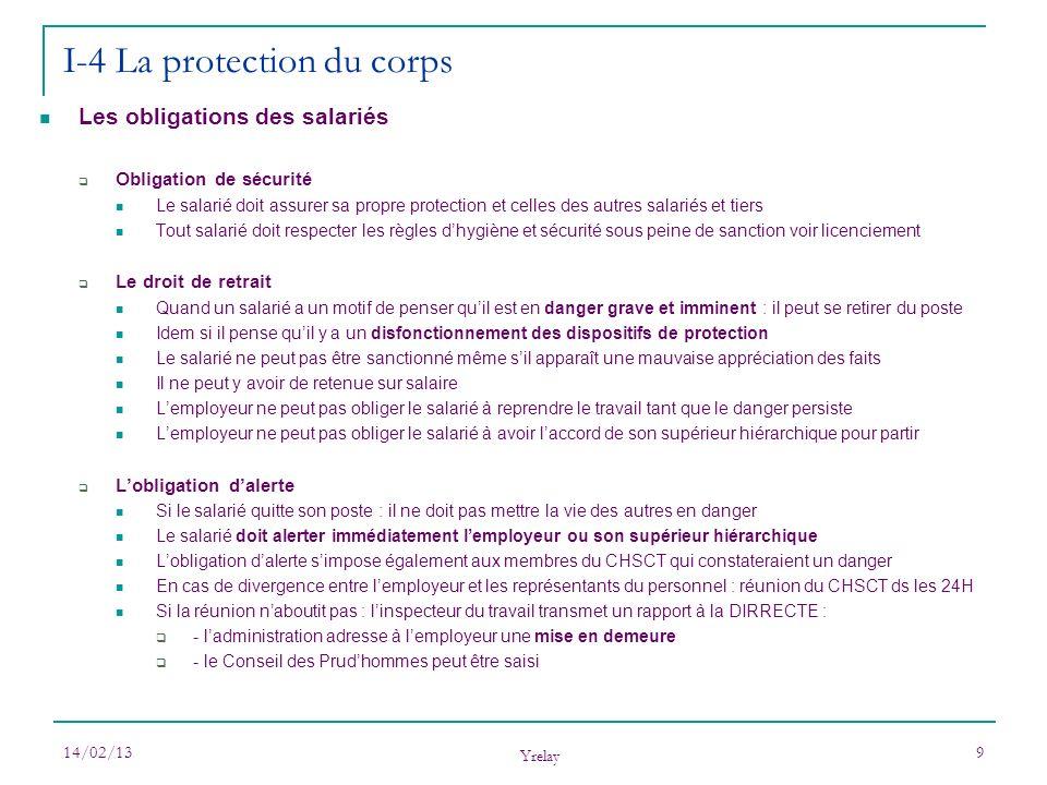 I-4 La protection du corps