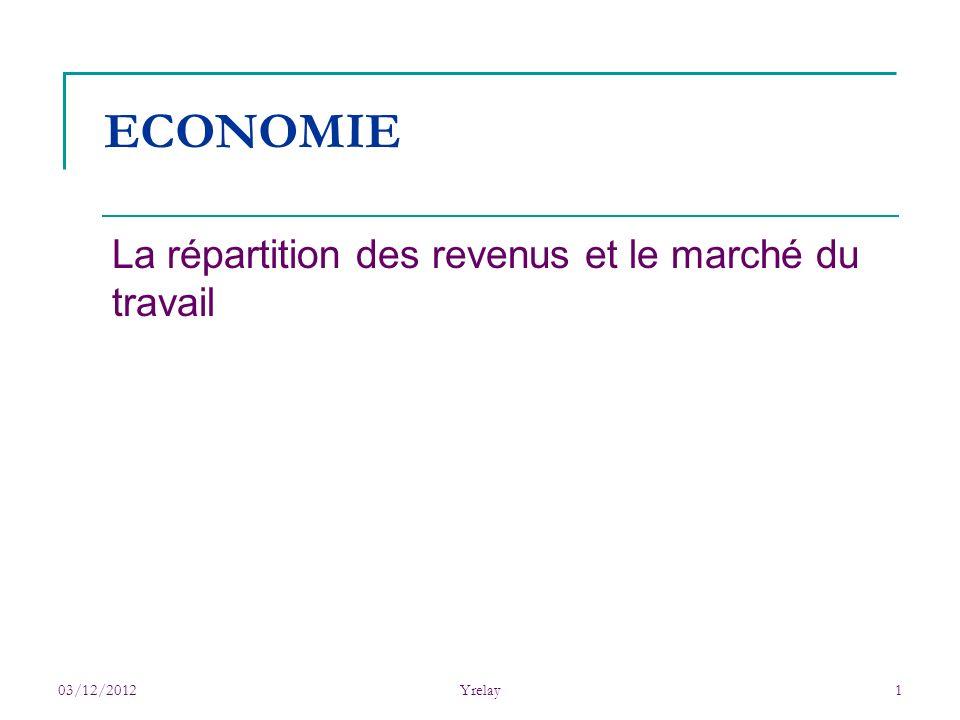 La répartition des revenus et le marché du travail