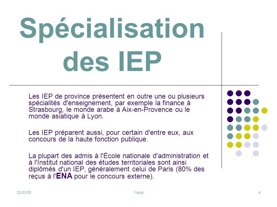 Spécialisation des IEP