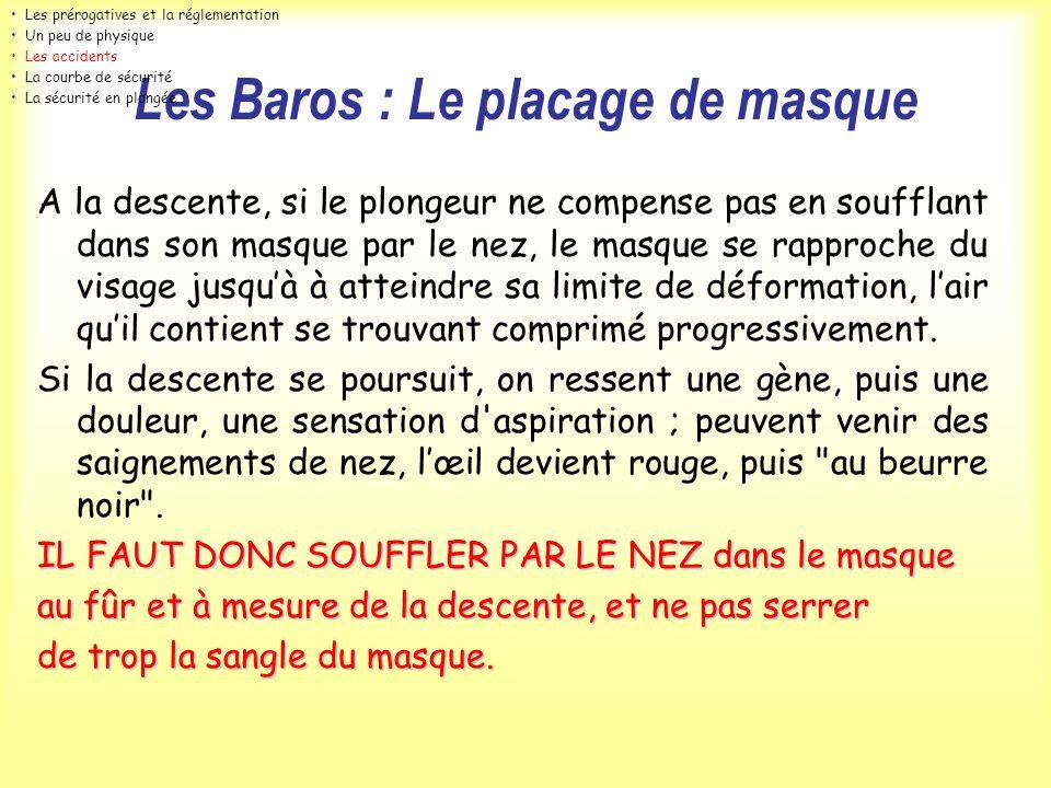 Les Baros : Le placage de masque