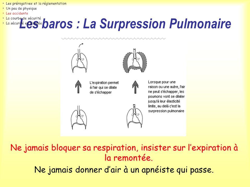 Les baros : La Surpression Pulmonaire