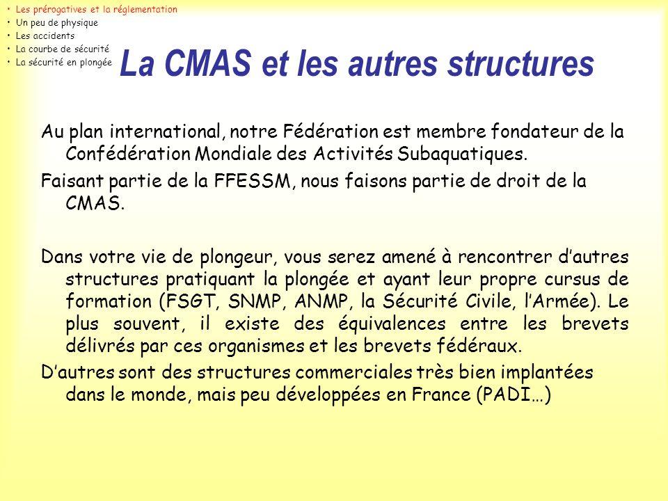 La CMAS et les autres structures
