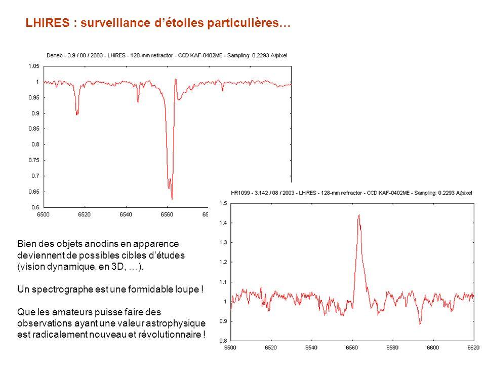 LHIRES : surveillance d'étoiles particulières…