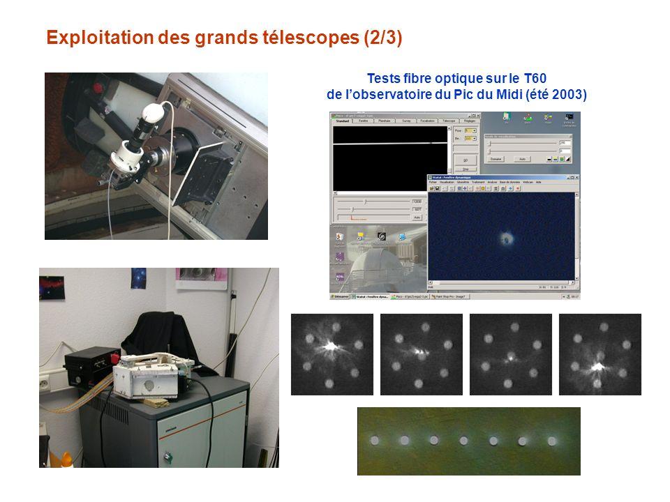 Exploitation des grands télescopes (2/3)