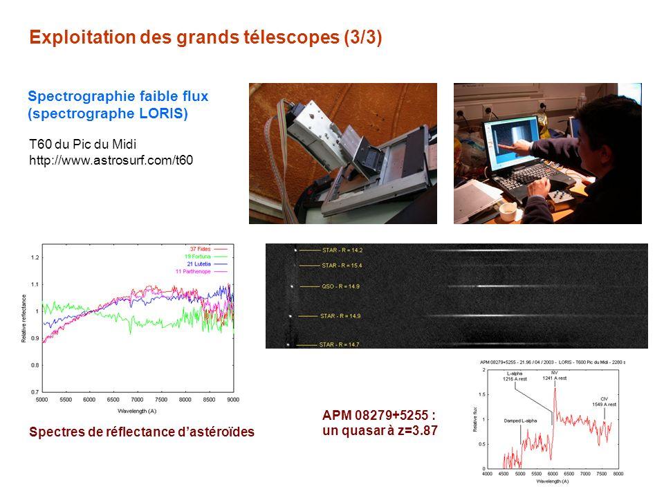 Exploitation des grands télescopes (3/3)