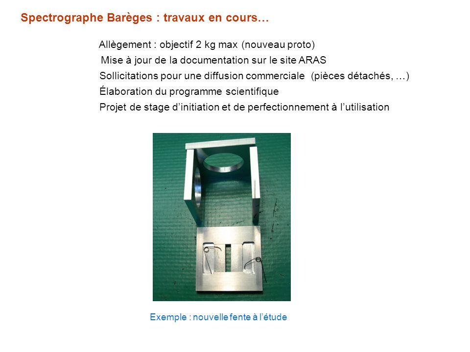 Spectrographe Barèges : travaux en cours…