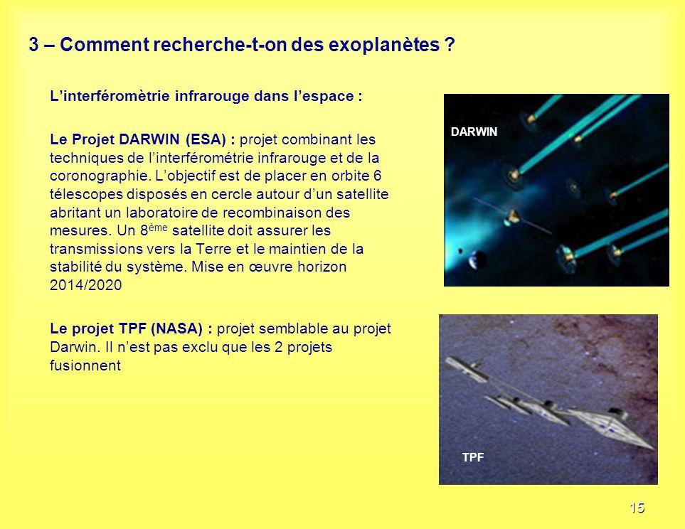 3 – Comment recherche t'on des exoplanètes