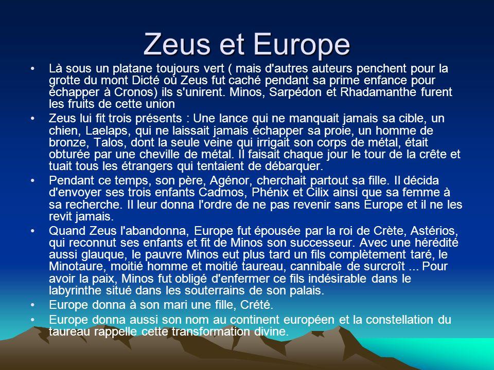 Zeus et Europe
