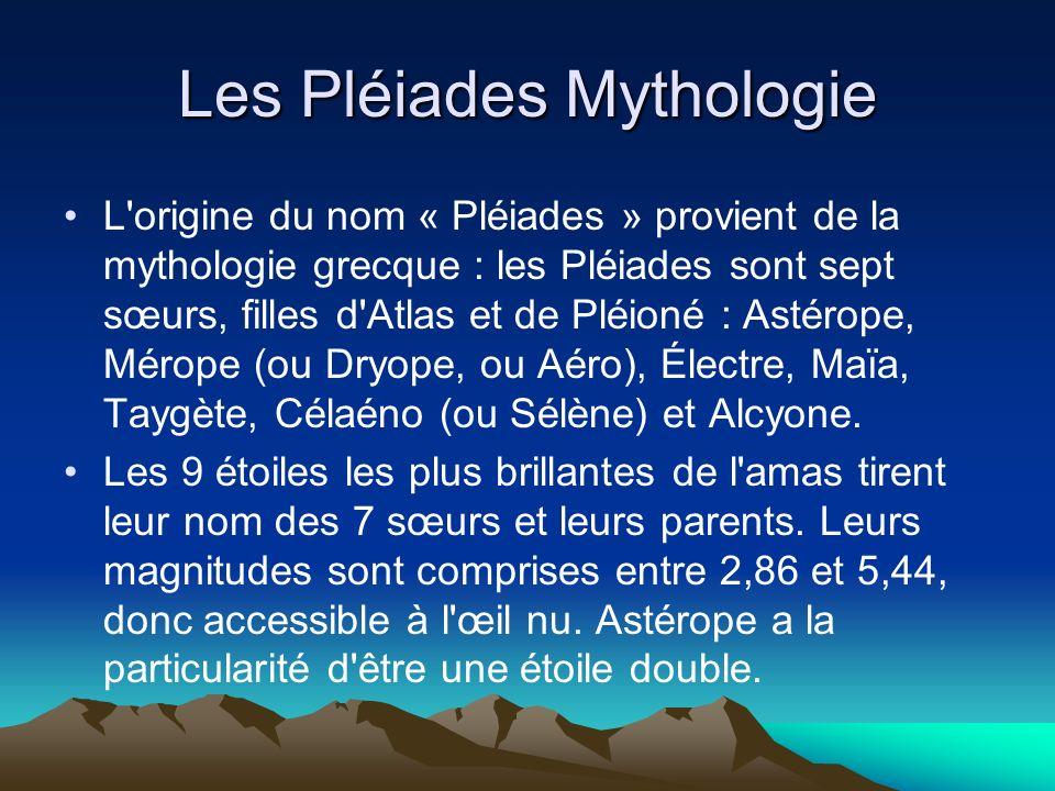 Les Pléiades Mythologie