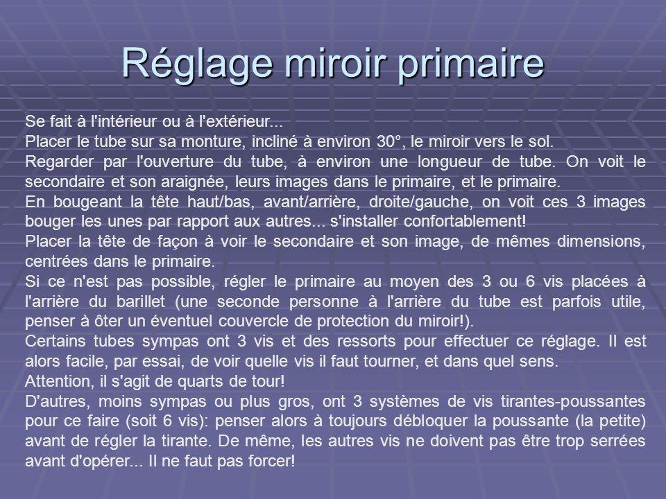 Réglage miroir primaire