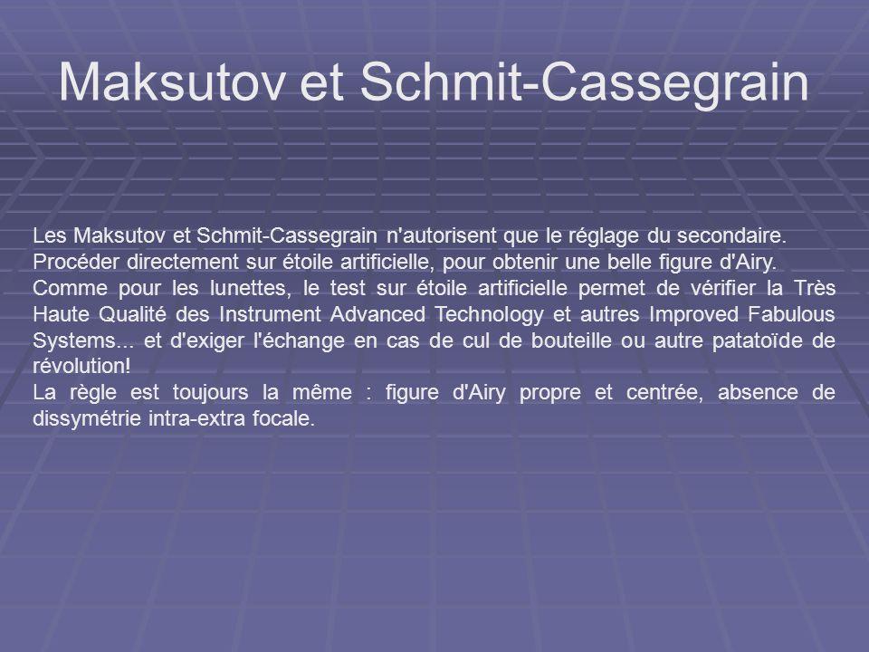 Maksutov et Schmit-Cassegrain