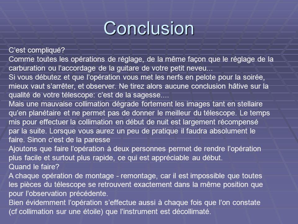 Conclusion C'est compliqué