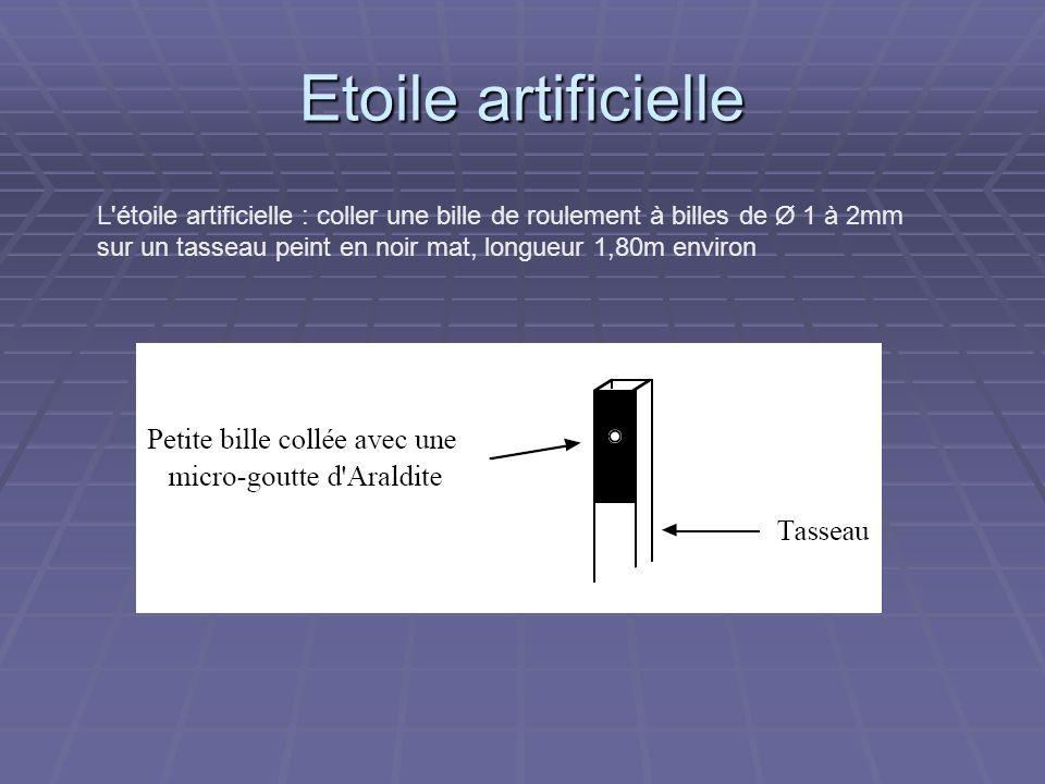 Etoile artificielle L étoile artificielle : coller une bille de roulement à billes de Ø 1 à 2mm.