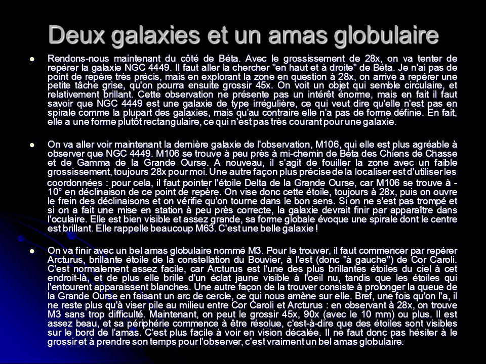 Deux galaxies et un amas globulaire