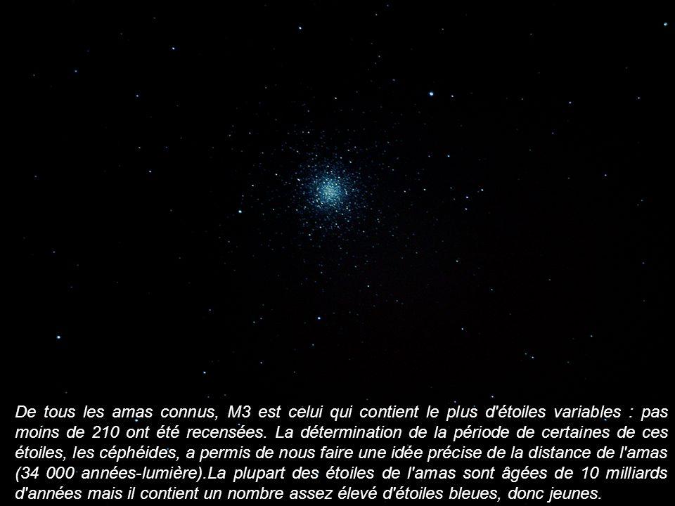 De tous les amas connus, M3 est celui qui contient le plus d étoiles variables : pas moins de 210 ont été recensées.